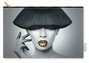Woman In Fashionable Bangs Carry-all Pouch