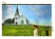 Woman In Lace By A Country Church Carry-all Pouch
