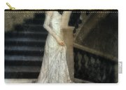 Woman In Lace Gown On Staircase Carry-all Pouch