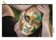 Woman In Mask Carry-all Pouch