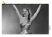 Woman In Metallic Dress, C.1950s Carry-all Pouch
