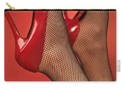 Woman In Red High Heel Shoes Carry-all Pouch