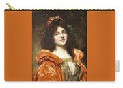 Woman In Renaissance Dress Carry-all Pouch