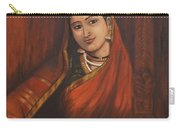 Woman In Saree - After Raja Ravi Varma Carry-all Pouch
