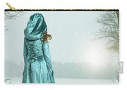 Woman In Snowy Landscape Carry-all Pouch