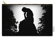 Woman In Thought Carry-all Pouch