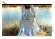 Woman In Victorian Dress By Water Carry-all Pouch