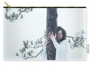 Woman In White Dress Hugging A Tree Carry-all Pouch