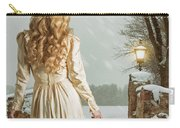 Woman In Winter Scene Carry-all Pouch