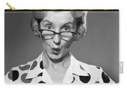 Woman Looking Over Her Glasses Carry-all Pouch