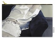 Woman Lying On Chair Carry-all Pouch by Joana Kruse