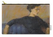 Woman On Couch Carry-all Pouch