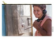 Woman On The Phone Carry-all Pouch