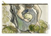 Woman Picking Cabbage Carry-all Pouch