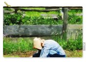 Woman Planting Garden Carry-all Pouch