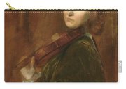 Woman Playing Violin Carry-all Pouch
