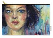 Woman  Portrait 2 Carry-all Pouch