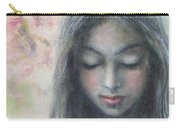 Woman Praying Meditation Painting Print Carry-all Pouch