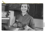 Woman Removing Roast From Oven, C.1960s Carry-all Pouch