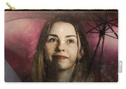 Woman Resilient In Storm Through Positive Thinking Carry-all Pouch