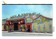 Woman Sits Outside Chinese Temple With Urn And Deity Statues Pattani Thailand Carry-all Pouch