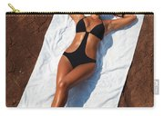Woman Sunbathing Carry-all Pouch