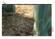 Woman Walking In Field In Green Boots Carry-all Pouch