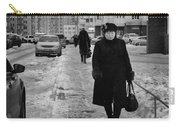 Woman Walking On Path In Russia Carry-all Pouch