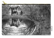 Woman Walking To Old House Carry-all Pouch