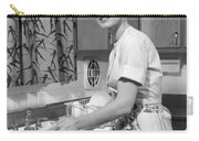 Woman Washing Dishes, C.1960s Carry-all Pouch