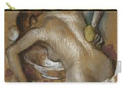 Woman Washing Her Back With A Sponge Carry-all Pouch by Edgar Degas