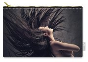 Woman Waving Long Dark Hair Carry-all Pouch