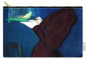 Woman With A Bird Cage  Detail Carry-all Pouch