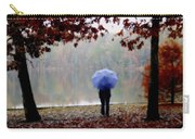 Woman With A Blue Umbrella Carry-all Pouch