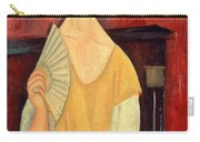 Woman With A Fan Carry-all Pouch by Amedeo Modigliani
