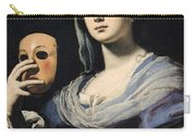 Woman With A Mask Carry-all Pouch