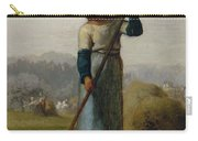Woman With A Rake Carry-all Pouch