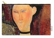 Woman With A Velvet Neckband Carry-all Pouch by Amedeo Modigliani