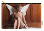 Woman With Angel Wings Carry-all Pouch