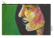 Woman With Black Lipstick Carry-all Pouch