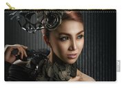 Woman With Black Metallic Headdress Carry-all Pouch