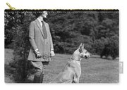 Woman With Great Dane, C.1920-30s Carry-all Pouch