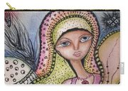 Woman With Large Eyes Carry-all Pouch by Prerna Poojara