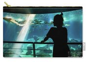 Woman With Leopard Shark Carry-all Pouch