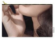 Woman With Red Lipstick Closeup Of Sensual Mouth Carry-all Pouch