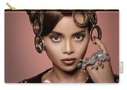 Woman With Ring Headdress And Bouffant Hairstyle Carry-all Pouch