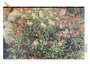 Women In The Flowers Carry-all Pouch by Claude Monet
