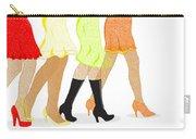 Womens Leg Dots Carry-all Pouch