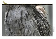 Wonderful Patterned Feathers On A Tawny Frogmouth Bird Carry-all Pouch