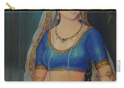 Wonderful Portrait A Lonely Queen Is Waiting For Her Husband To Return From Battle Oil Painting  Carry-all Pouch